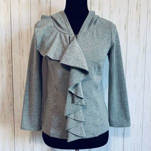 Anthropologie Saturday Sunday ruffled hoodie - M
